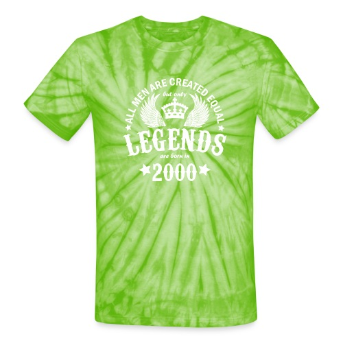 Legends are Born in 2000 - Unisex Tie Dye T-Shirt