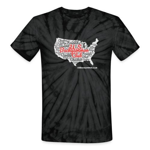 US Backgammon Club - Unisex Tie Dye T-Shirt
