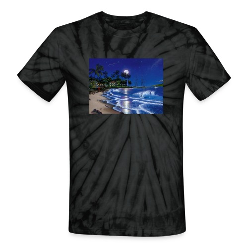 full moon - Unisex Tie Dye T-Shirt