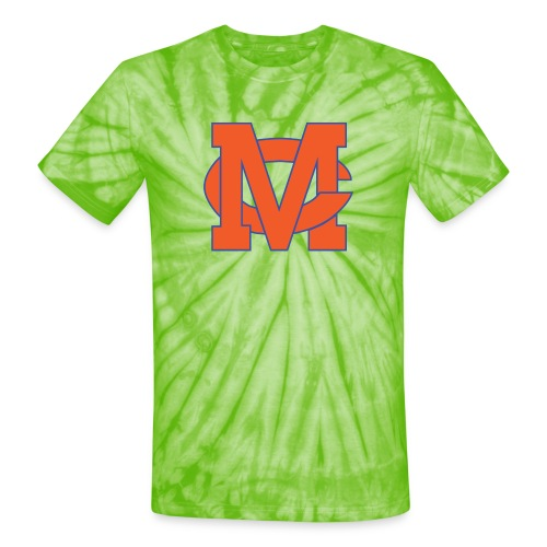 interlocking MC vector - Unisex Tie Dye T-Shirt