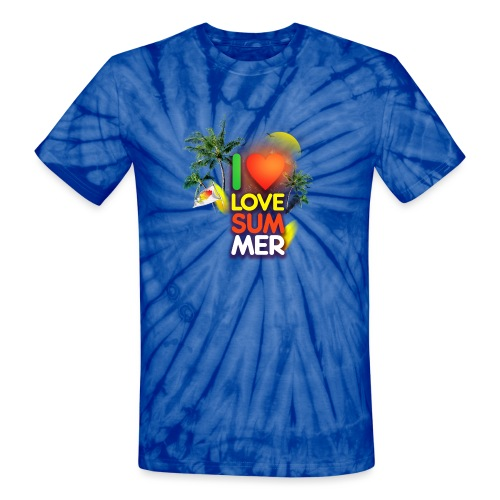 I love summer - Unisex Tie Dye T-Shirt