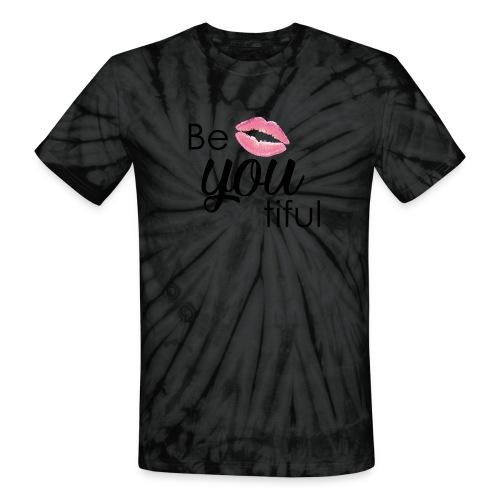 Be-You-Tiful Lip Logo - Unisex Tie Dye T-Shirt