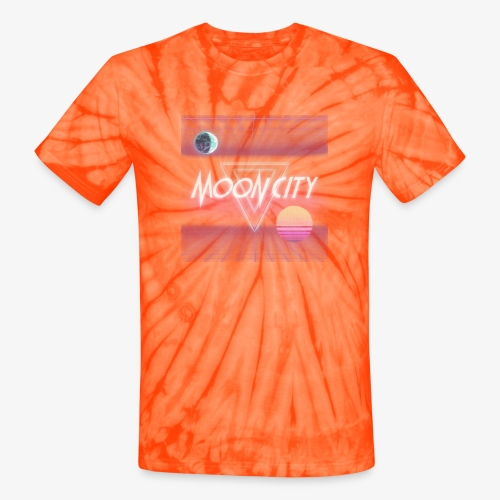 Moon City Retrogrid - Unisex Tie Dye T-Shirt