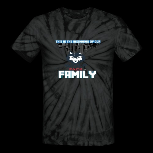 We Are Linked As One Big WolfPack Family - Unisex Tie Dye T-Shirt