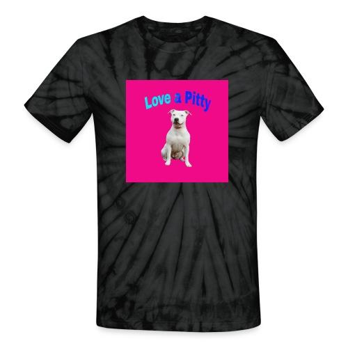 Pink Pit Bull - Unisex Tie Dye T-Shirt