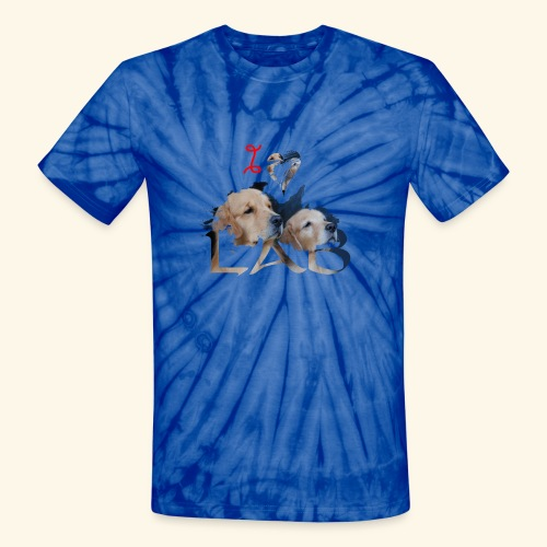 I love Lab - Unisex Tie Dye T-Shirt