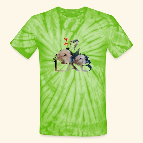 I love Lab - Unisex Tie Dye T-Shirt
