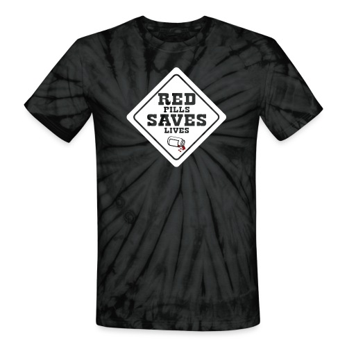 Red Pills Saves Lives White - Unisex Tie Dye T-Shirt
