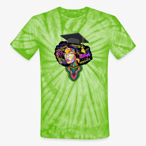 Smart Black Woman - Unisex Tie Dye T-Shirt