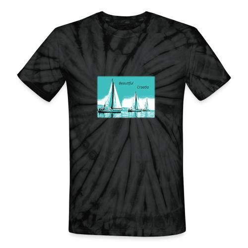 Beautiful Croatia - Unisex Tie Dye T-Shirt