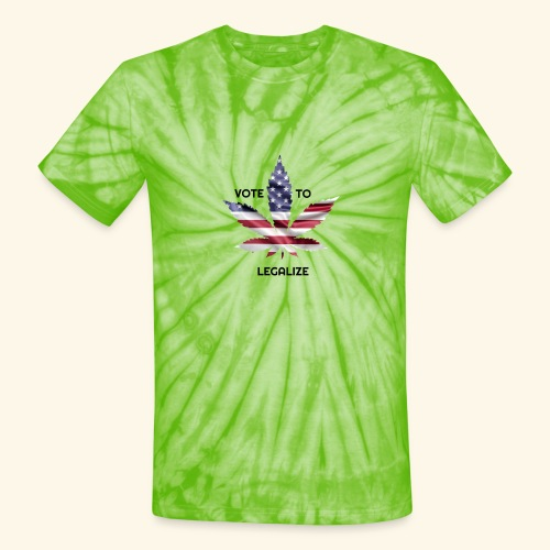 VOTE TO LEGALIZE - AMERICAN CANNABISLEAF SUPPORT - Unisex Tie Dye T-Shirt