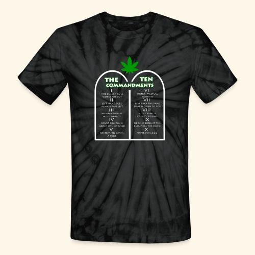 The Ten Commandments of cannabis - Unisex Tie Dye T-Shirt