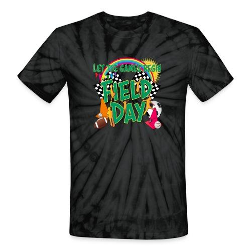 Field Day Games for SCHOOL - Unisex Tie Dye T-Shirt