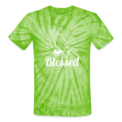 Blessed (White Letters) - Unisex Tie Dye T-Shirt
