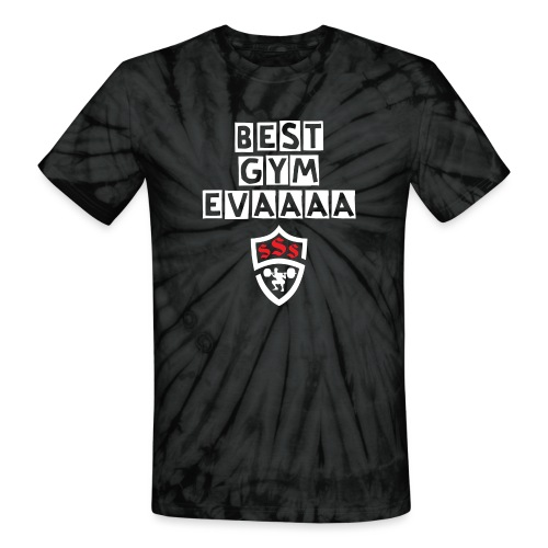 Best Gym Evaaa White and Red - Unisex Tie Dye T-Shirt