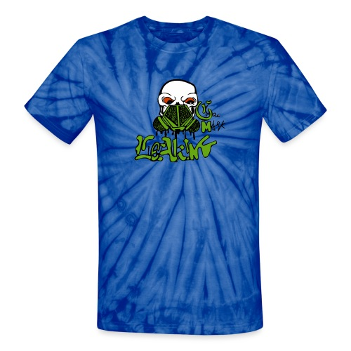 Leaking Gas Mask - Unisex Tie Dye T-Shirt