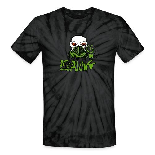 Leaking Gas Mask - Unisex Tie Dye T-Shirt