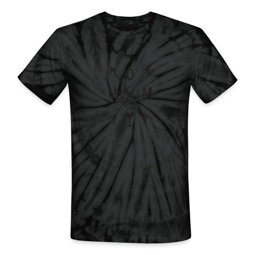 Mom Loves Wine (black ink) - Unisex Tie Dye T-Shirt