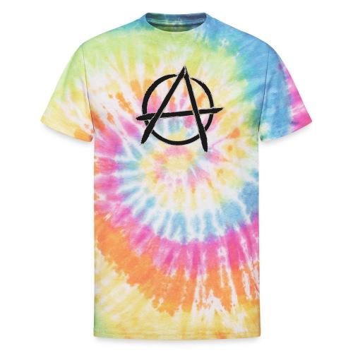 Anarchy in black silver - Unisex Tie Dye T-Shirt