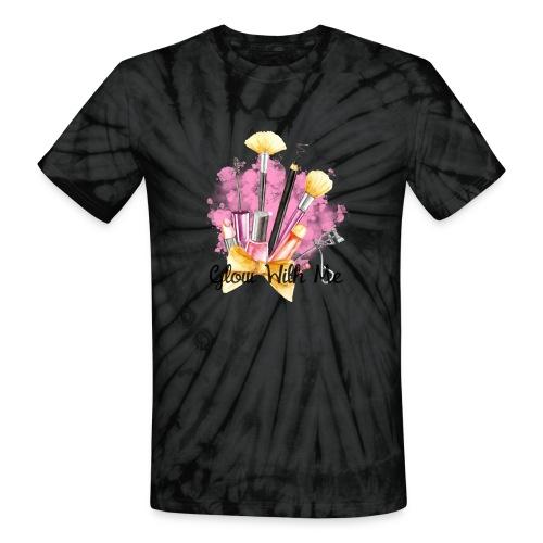 Glow With Me Makeup Logo - Unisex Tie Dye T-Shirt