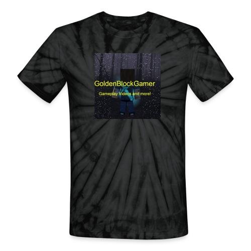 GoldenBlockGamer Tshirt - Unisex Tie Dye T-Shirt