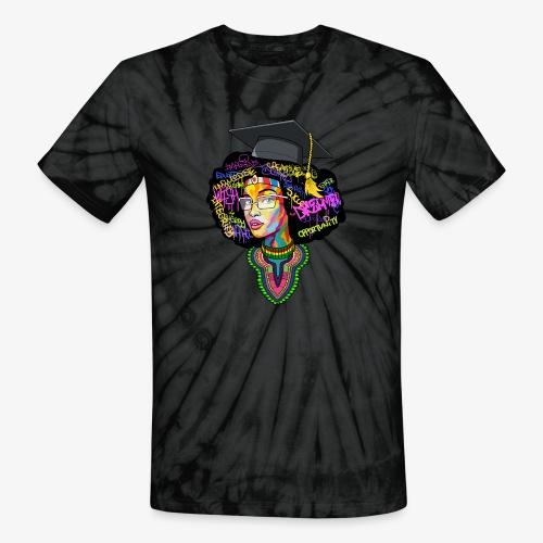 Melanin Women Afro Education - Unisex Tie Dye T-Shirt
