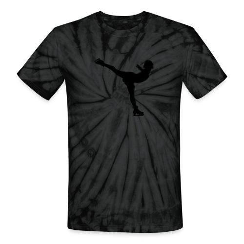 Ice Skating Woman Silhouette - Unisex Tie Dye T-Shirt