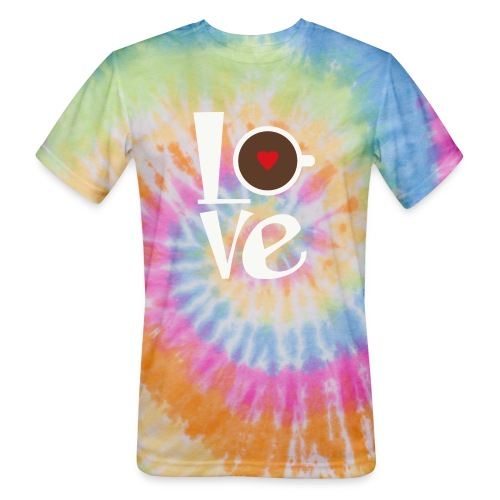 Love Coffee - Unisex Tie Dye T-Shirt