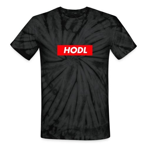 Hodl BoxLogo - Unisex Tie Dye T-Shirt