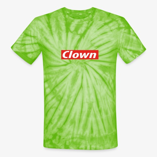 Clown box logo - Unisex Tie Dye T-Shirt