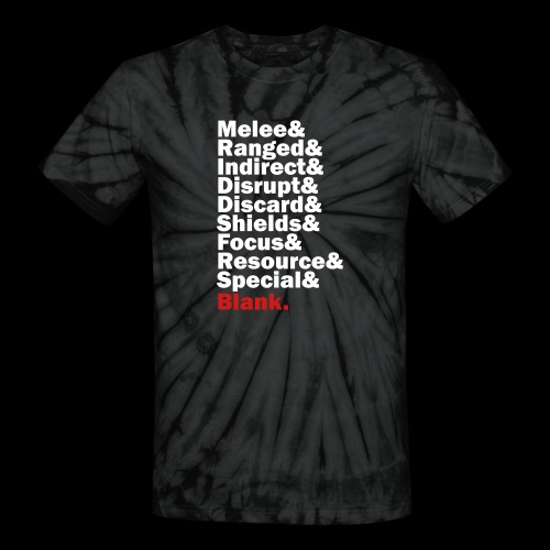 Discard to Reroll - Sides of the Die - Unisex Tie Dye T-Shirt