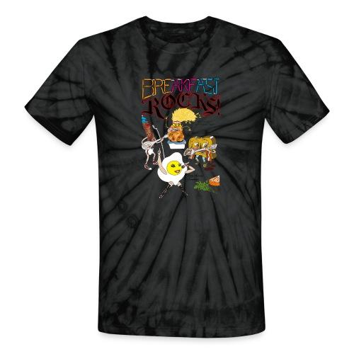 Breakfast Rocks! - Unisex Tie Dye T-Shirt