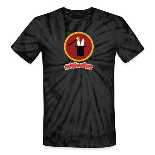 Magic Shop Explorer Badge - Unisex Tie Dye T-Shirt