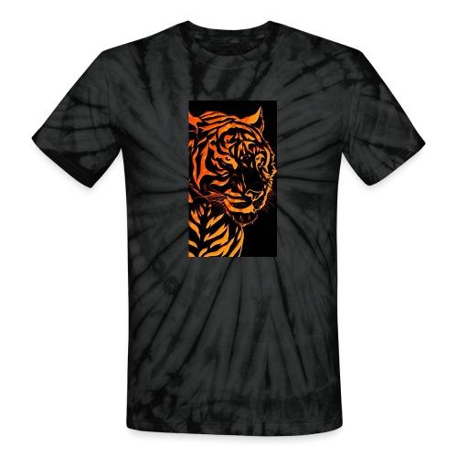 Fire tiger - Unisex Tie Dye T-Shirt