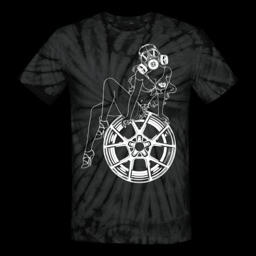Gas Mask Girl - Unisex Tie Dye T-Shirt