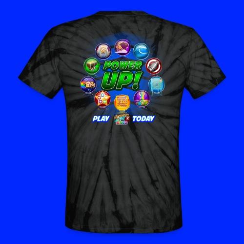 Vintage Cannonball Bingo Power-Up Tee - Unisex Tie Dye T-Shirt