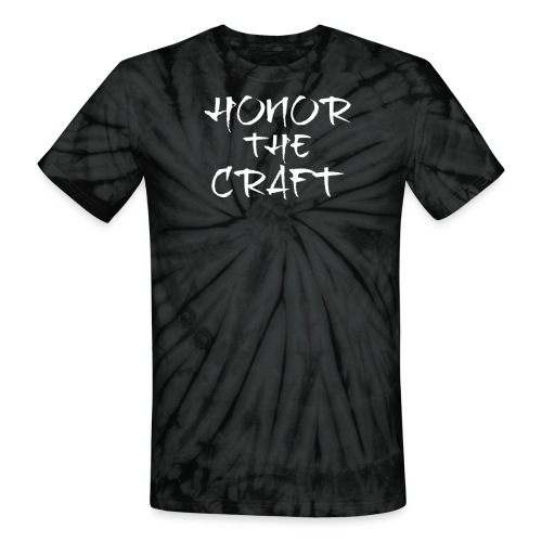 Honor The Craft Text on B - Unisex Tie Dye T-Shirt