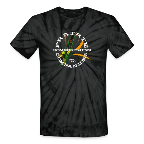 PHC Logo (white) with It Takes Beer on the back - Unisex Tie Dye T-Shirt