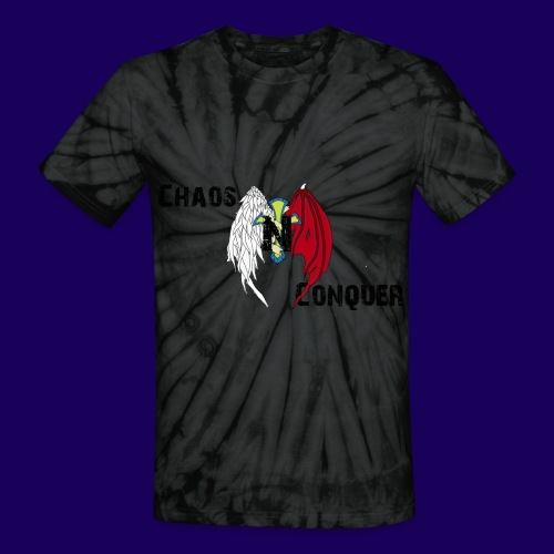 ChaosNConquer Design Logo - Unisex Tie Dye T-Shirt