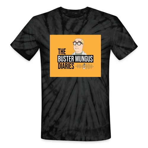 Buster Mungus Orange Logo Swag - Unisex Tie Dye T-Shirt