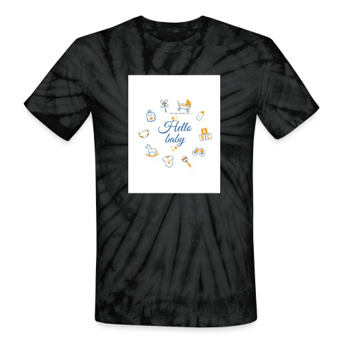 Hello baby - Unisex Tie Dye T-Shirt