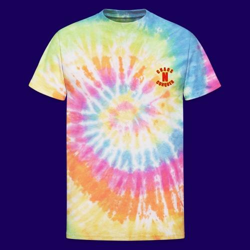 ChaosNConquer Minimalist Logo Print - Unisex Tie Dye T-Shirt