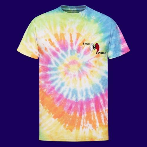 ChaosNConquer Design Logo with Steampunk Girl - Unisex Tie Dye T-Shirt