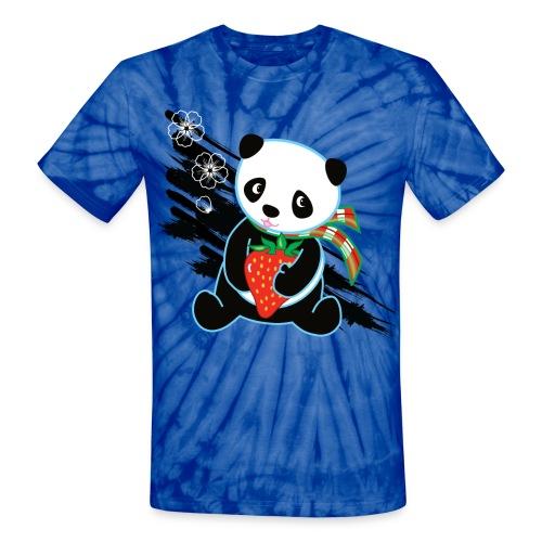 Cute Kawaii Panda T-shirt by Banzai Chicks - Unisex Tie Dye T-Shirt