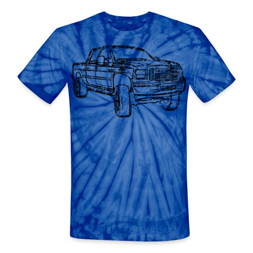 Ford Truck F250 Distressed - Unisex Tie Dye T-Shirt
