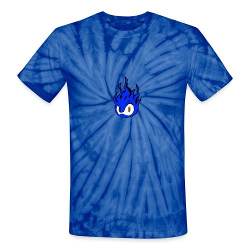 Blue Fire Power - Unisex Tie Dye T-Shirt
