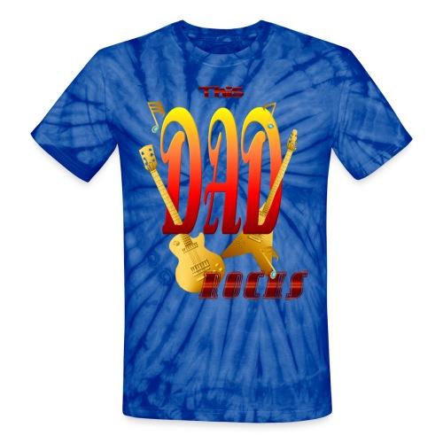 This Dad Rocks! - Unisex Tie Dye T-Shirt