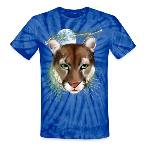 Midnight Puma - Unisex Tie Dye T-Shirt