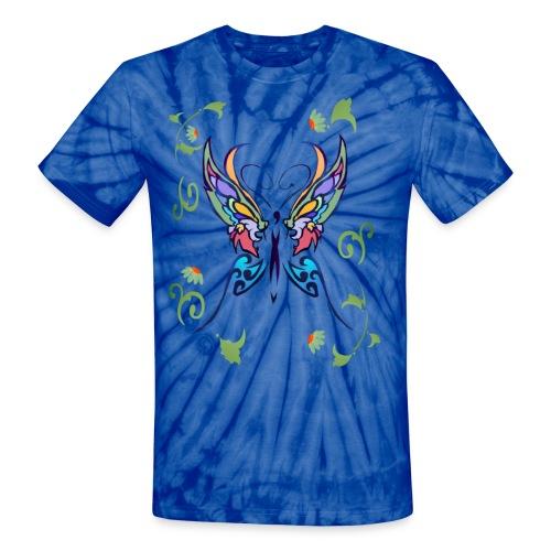 Bright Butterfly - Unisex Tie Dye T-Shirt