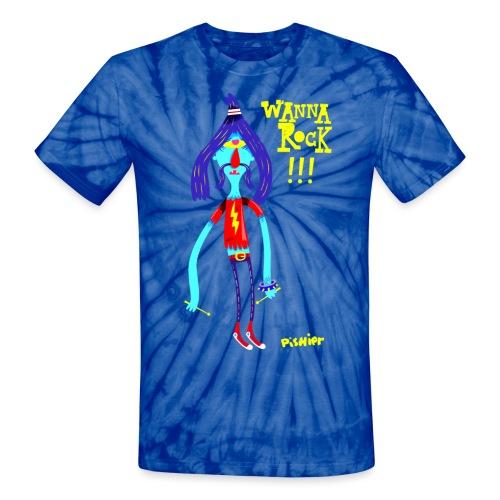 wannarock png - Unisex Tie Dye T-Shirt